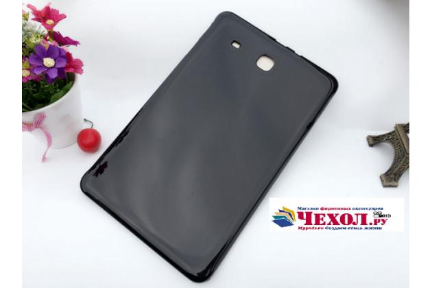 """Фирменная ультра-тонкая полимерная из мягкого качественного силикона задняя панель-чехол-накладка для Samsung Galaxy Tab E 9.6 SM-T560N/T561N/T565N"""" черная"""