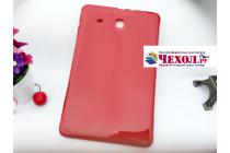 """Фирменная ультра-тонкая полимерная из мягкого качественного силикона задняя панель-чехол-накладка для Samsung Galaxy Tab E 9.6 SM-T560N/T561N/T565N"""" красная"""
