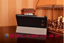 """Фирменный умный чехол самый тонкий в мире для планшета Samsung Galaxy Tab E 9.6"""" дюймов SM-T560N/T561N/T565N """"Il Sottile"""" черный кожаный"""