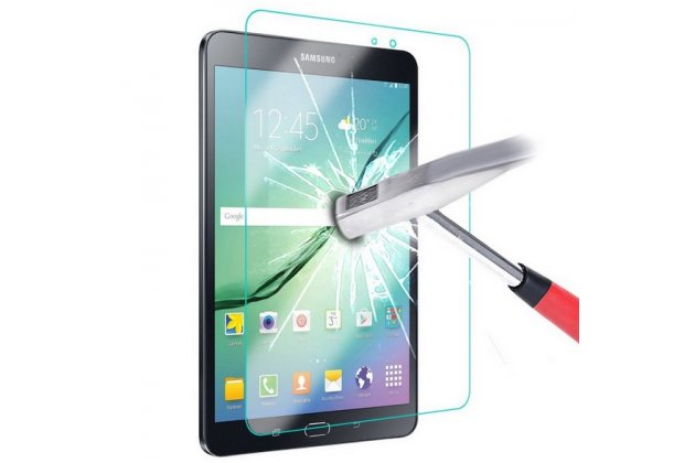 Фирменное защитное закалённое противоударное стекло премиум-класса из качественного японского материала с олеофобным покрытием для Samsung Galaxy Tab E 9.6 SM-T560N/T561N/T565N
