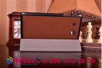 """Фирменный умный чехол самый тонкий в мире для планшета Samsung Galaxy Tab E 9.6"""" дюймов SM-T560N/T561N/T565N """"Il Sottile"""" коричневый кожаный"""
