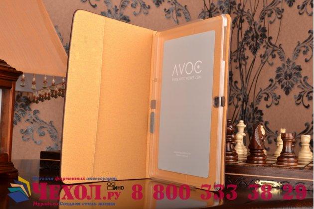 Фирменный умный Smart-чехол с функцией засыпания бизнес класса ручной работы для Samsung Galaxy Tab Pro 10.1 SM T520/T525 с визитницей из качественной импортной кожи бордо производство Вьетнам
