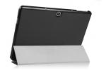 """Фирменный умный тонкий чехол для Samsung Galaxy Tab Pro S 12.2 SM-W700  """"Il Sottile"""" черный пластиковый"""