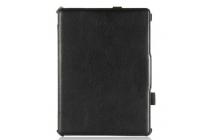 Фирменный тонкий чехол премиум класса с мульти-подставкой для планшета Samsung Galaxy Tab S 10.5 SM-t800/t801/t805 из качественной импортной кожи черный