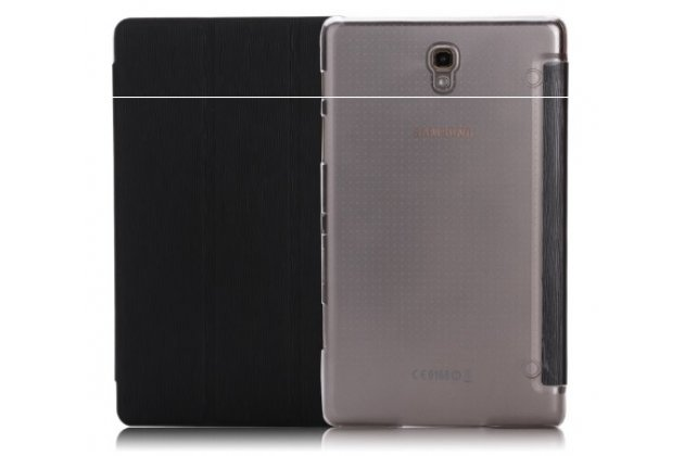 """Фирменный умный чехол самый тонкий в мире для Samsung Galaxy Tab S 8.4 """"Il Sottile"""" черный пластиковый Италия"""