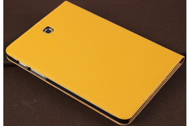 Фирменный премиальный чехол бизнес класса для Samsung Galaxy Tab S2 8.0 SM-T710/T715 из качественной импортной кожи желтый