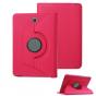 Чехол для планшета Samsung Galaxy Tab S2 8.0 SM-T710/T715 поворотный роторный оборотный малиновый кожаный..