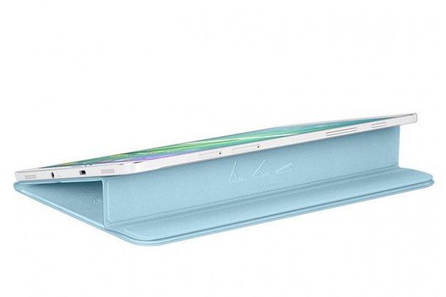 """Чехол с логотипом для Samsung Galaxy Tab S2 8.0 SM-T710/T715 с дизайном """"Book Cover"""" голубой"""