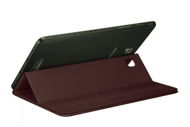 """Чехол с логотипом для Samsung Galaxy Tab S2 8.0 SM-T710/T715 с дизайном """"Book Cover"""" бордовый"""