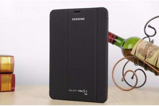 Фирменный оригинальный чехол с логотипом для Samsung Galaxy Tab S2 8.0 SM-T710/T715 Simple Cover черный