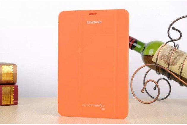 Фирменный оригинальный чехол с логотипом для Samsung Galaxy Tab S2 8.0 SM-T710/T715 Simple Cover оранжевый