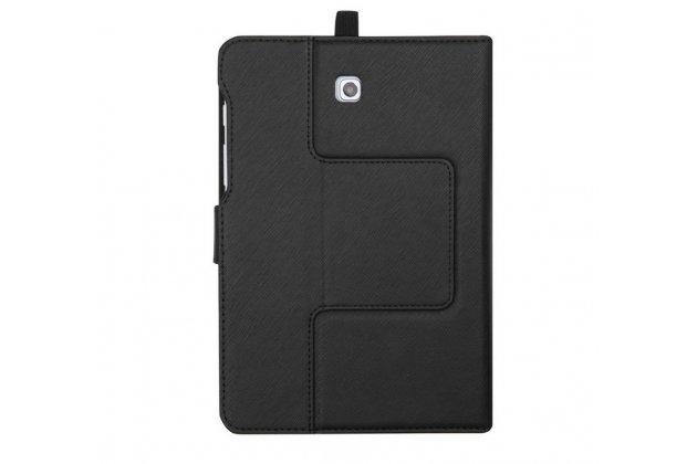 Фирменный оригинальный чехол со съёмной Bluetooth-клавиатурой для Samsung Galaxy Tab S2 8.0 SM-T710/T715 черный кожаный + гарантия