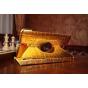 Эксклюзивный чехол обложка футляр для Samsung Galaxy Tab S2 8.0 SM-T710/T715 кожа крокодила золотой. Только в ..
