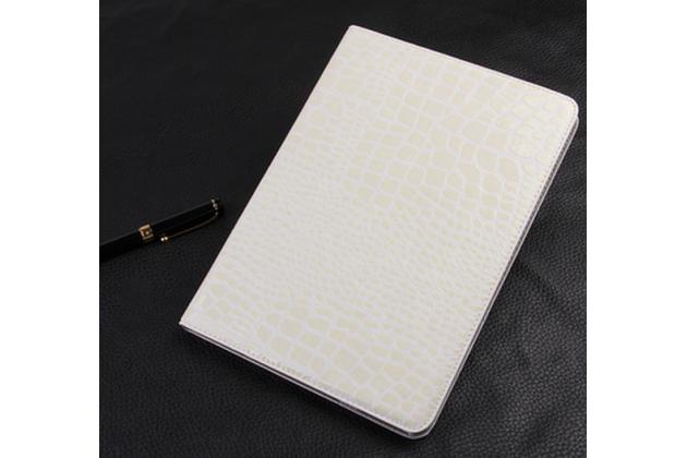 Фирменный чехол для Samsung Galaxy Tab S2 9.7 SM-T810/T815 лаковая кожа крокодила белый
