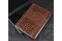 Фирменный чехол для Samsung Galaxy Tab S2 9.7 SM-T810/T815 лаковая кожа крокодила черный