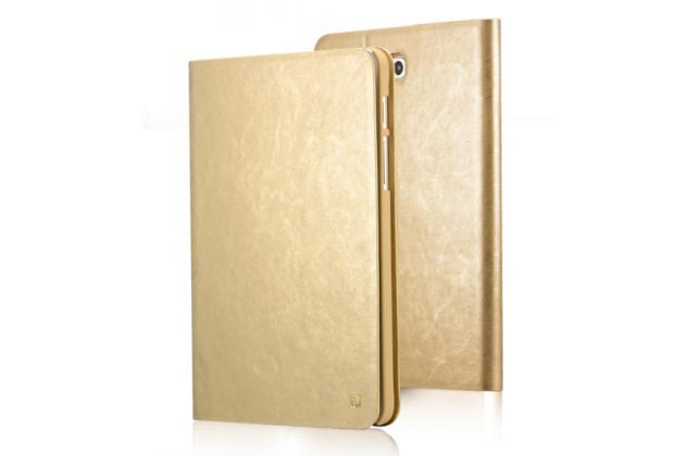 Фирменный премиальный чехол бизнес класса для Samsung Galaxy Tab S2 9.7 SM-T810/ T815 из качественной импортной кожи золотой