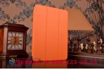 """Фирменный умный чехол-книжка самый тонкий в мире для Samsung Galaxy Tab S2 9.7 SM-T810/T815 """"Il Sottile"""" оранжевый кожаный"""