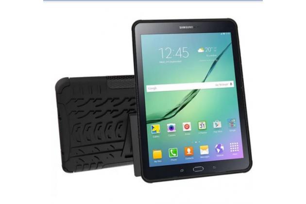 Противоударный усиленный ударопрочный фирменный чехол-бампер-пенал для Samsung Galaxy Tab S2 9.7 SM-T810/ T815 черный