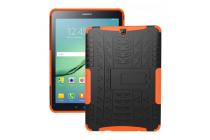 Противоударный усиленный ударопрочный фирменный чехол-бампер-пенал для Samsung Galaxy Tab S2 9.7 SM-T810/ T815 оранжевый