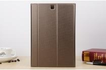 """Чехол с логотипом для Samsung Galaxy Tab A 9.7 SM-T550/T555 с дизайном """"Book Cover"""" коричневый"""