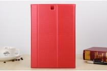 """Чехол с логотипом для Samsung Galaxy Tab A 9.7 SM-T550/T555 с дизайном """"Book Cover"""" красный"""