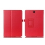 Фирменный чехол-обложка с подставкой для Samsung Galaxy Tab A 9.7 SM-T550/T555 красный кожаный..
