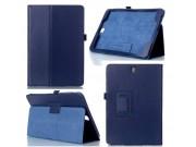 Фирменный чехол-обложка с подставкой для Samsung Galaxy Tab A 9.7 SM-T550/T555 синий кожаный..