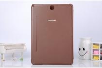 Фирменный оригинальный чехол с логотипом для Samsung Galaxy Tab A 9.7 SM-T550/T555 Simple Cover коричневый
