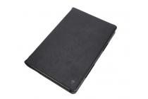 Фирменный премиальный чехол бизнес класса для Samsung Galaxy Tab Pro S 12.2 SM-W700 из качественной импортной кожи черный