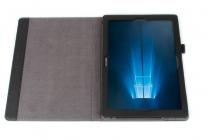 Фирменный премиальный чехол бизнес класса для Samsung Galaxy Tab Pro S 12.2 SM-W700 / W703 / W707 из качественной импортной кожи черный
