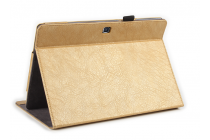 Фирменный премиальный чехол бизнес класса для Samsung Galaxy Tab Pro S 12.2 SM-W700 / W703 / W707 из качественной импортной кожи золотой