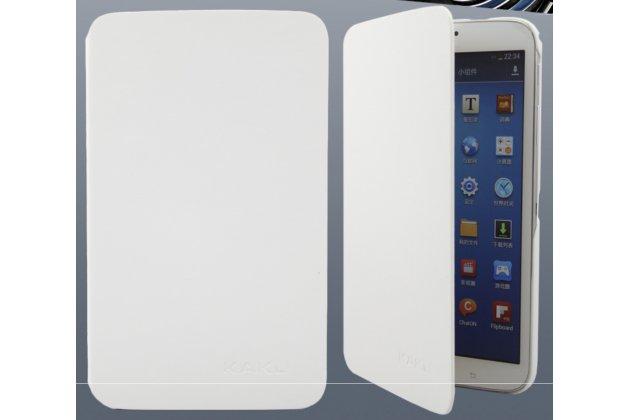 """Фирменный умный чехол самый тонкий в мире для планшета Samsung Galaxy tab 3 8.0 SM T310/T311/T315 """"Il Sottile"""" белый кожаный"""