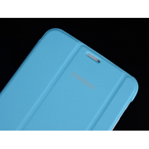 """Чехол с логотипом для Samsung Galaxy Tab 3 8.0 SM-T310/T311/T315 с дизайном """"Book Cover"""" голубой"""