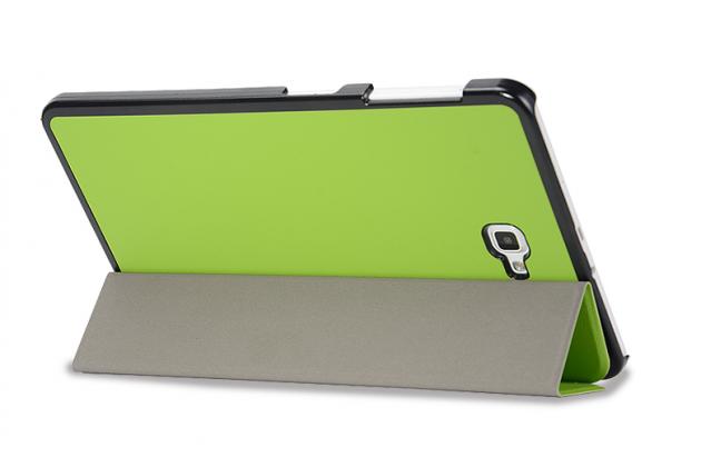 Фирменный умный чехол самый тонкий в мире для Samsung Galaxy Tab A 10.1 2016 SM-P580/P585 S-Pen iL Sottile зеленый пластиковый Италия