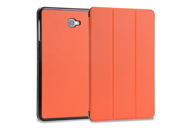 Фирменный умный чехол самый тонкий в мире для Samsung Galaxy Tab A 10.1 2016 SM-P580/P585 S-Pen iL Sottile оранжевый пластиковый Италия
