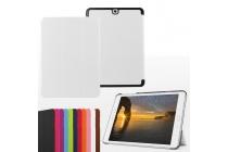 """Фирменный умный чехол самый тонкий в мире для планшета Samsung Galaxy Tab S2 9.7 SM-T810/T815 """"Il Sottile"""" белый кожаный"""