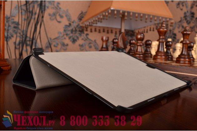 """Фирменный умный чехол самый тонкий в мире для планшета Samsung Galaxy Tab S2 9.7 SM-T810/T815 """"Il Sottile"""" черный кожаный"""