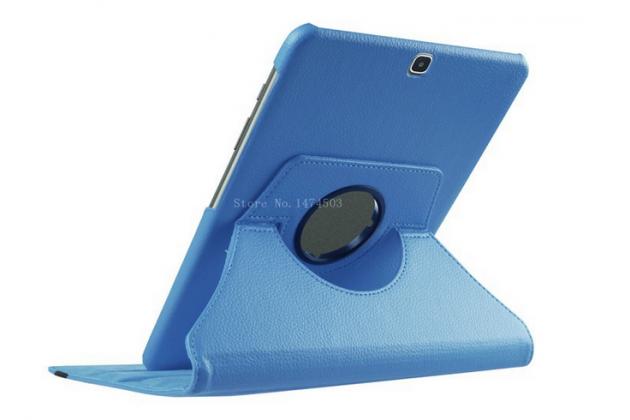 Чехол для планшета Samsung Galaxy Tab S2 9.7 SM-T810/T815 поворотный роторный оборотный голубой кожаный