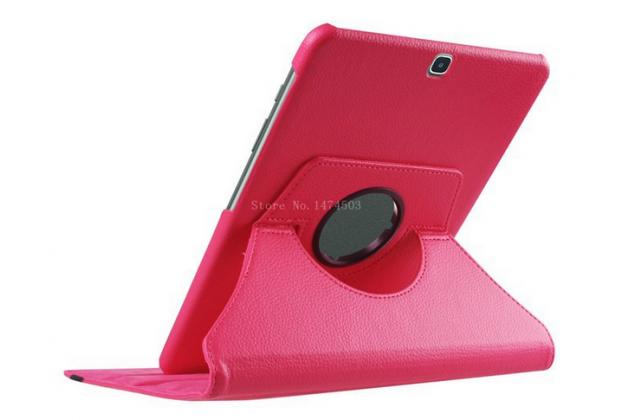Чехол для планшета Samsung Galaxy Tab S2 9.7 SM-T810/T815 поворотный роторный оборотный малиновый кожаный