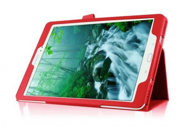 Чехол для Samsung Galaxy Tab S2 9.7 SM-T810/T815 красный кожаный