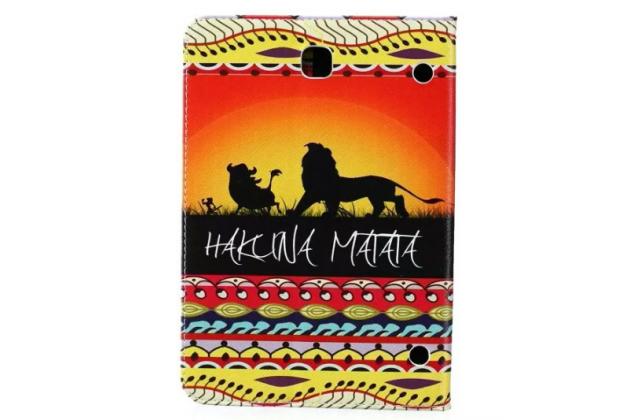 "Чехол-книжка для Samsung Galaxy Tab S2 9.7 SM-T810/T815 ""тематика Hakuna Matata"" с узорами"