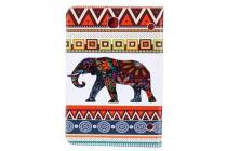 "Чехол-книжка для Samsung Galaxy Tab S2 9.7 SM-T810/T815 ""тематика Индийский слон"" белый с узорами"