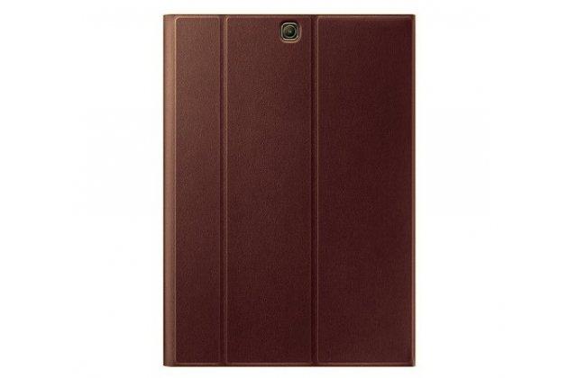 """Чехол с логотипом для Samsung Galaxy Tab S2 9.7 SM-T810/T815 с дизайном """"Book Cover"""" бордовый"""