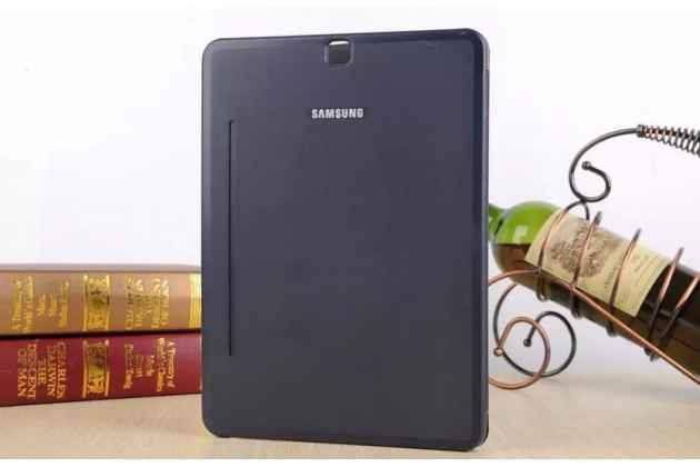 Фирменный оригинальный чехол с логотипом для Samsung Galaxy Tab S2 9.7 SM-T810/T815 Simple Cover синий