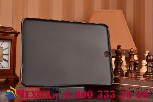 Фирменная ультра-тонкая полимерная из мягкого качественного силикона задняя панель-чехол-накладка для Samsung Galaxy Tab S2 9.7 черная