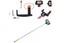 Бесповодная Bluetooth селфи-палка/монопод для сэлфи с удобной прорезиненной ручкой зеленого цвета со встроенной кнопкой спуска + гарантия