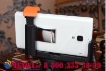 Бесповодная Bluetooth селфи-палка/монопод для сэлфи со встроенным зеркальцем и кнопкой спуска оранжевого цвета + гарантия
