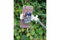 Проводная селфи-палка/монопод для сэлфи со встроенным зеркальцем и кнопкой спуска черного цвета + гарантия