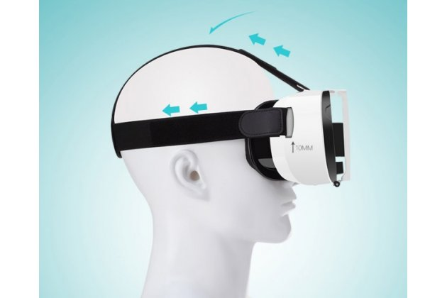 """Фирменный оригинальный Шлем Виртуальной Реальности/ 3D- очки/ VR- шлем FiiT VR 2S Box Virtual Reality 3D Glasses для телефонов 4.0""""/4.5""""/5.0""""/5.5""""/6.0""""/6.5"""" дюймов"""