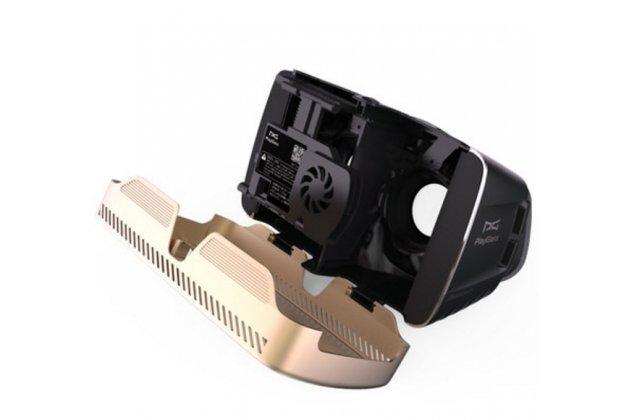 """Фирменный оригинальный Шлем Виртуальной Реальности/ 3D- очки/ VR- шлем Play Glass Plus VR для телефонов 4.0""""-6.0"""" дюймов с встроенным вентилятором"""